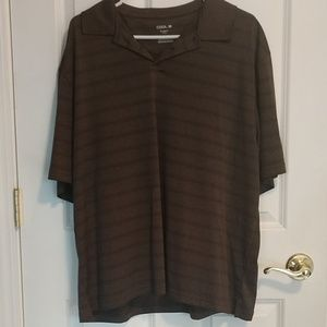 Brown Short sleeve XL polo shirt